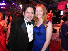 "Maestro Gustavo Dudamel and Jacqueline Emerson of ""The Hunger Games"" at the LA Phil 2012 Opening Night Gala"