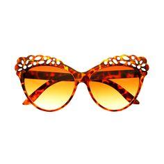 Lace Flower Retro Fashion Womens Large Cat Eye Sunglasses C1720
