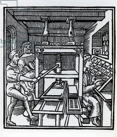 Printing press (woodcut)