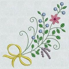 FLOWERS AND RIBBONS - Vintage Broideries | OregonPatchWorks