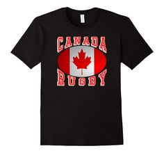#Canada Rugby Fans National Flag #Rugby Ball Bold Collegiate Text #TShirt Support your #Rio2016 teams #rugby7s #olympics  http://amzn.to/29rQhRK