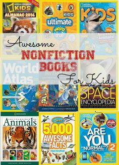 A list of great nonfiction books for kids, and a giveaway for a National Geographic Kids magazine subscription. #giveaway