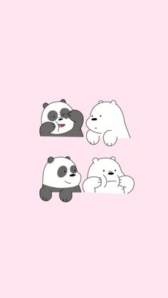 cute we bare bears wallpaper We Bare Bears Wallpapers, Panda Wallpapers, Funny Wallpapers, Cartoon Wallpaper, Wallpaper Iphone Disney, Ice Bear We Bare Bears, We Bear, Cute Disney Drawings, Cute Drawings
