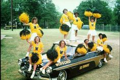 Cheerleaders.  #wofford #oldschool