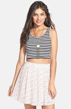Soprano Floral Lace Skirt (Juniors) | Nordstrom