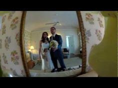 Bride places wide angle camera in her bouquet to capture moments