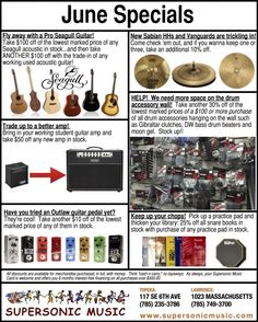 June Specials at Supersonic Music!