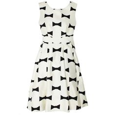 kate spade new york Bow Tie Marilyn Dress ($286) ❤ liked on Polyvore featuring dresses, vestidos, kate spade, robes, pleated skater skirt, white cut out dress, white flared skirt, pocket dress and pleated circle skirt