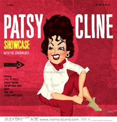 """SHOWCASE  #52 in my RECORD COLLECTION series    Where I grew up, people were on a first-name basis with Patsy Cline. You just referred to her as """"Patsy"""" & cast your eyes skywards.    Available as PRINT: http://www.redbubble.com/people/norncutson/art/3713807-2-showcase    Available as T: http://www.redbubble.com/people/norncutson/t-shirts/3713816-1-showcase"""