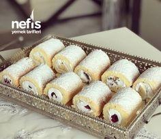 Mini Rulo Pastalar Mini Rolls, Sweet Cookies, Tasty, Yummy Food, Food Platters, Chocolate Cake, Bakery, Food And Drink, Cooking Recipes