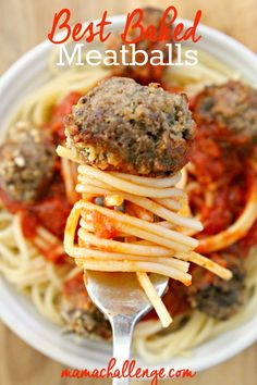 You can never go wrong with spaghetti and meatballs. A timeless dish, the perfect plate of spaghetti and meatballs doesn't have to take hours to make, just a great sauce and this recipe for the baked meatballs (which can be made gluten-free, too!) #SimmeredinTradition [ad]