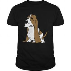 This cute design will be a great gift for you or your family Basset hound cartoon Tee Shirts T-Shirts