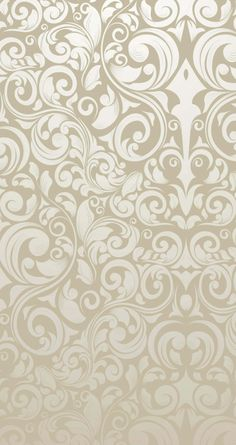 Tap image for more iPhone pattern background! Light gold swirl floral Pattern - @mobile9 | Wallpapers for iPhone 5/5s/5c, iPhone 6 & 6 plus