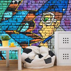 Fotobehang Graffiti streetart | Maak het jezelf eenvoudig en bestel fotobehang voorzien van een lijmlaag bij YouPri om zo gemakkelijk jouw woonruimte een nieuwe stijl te geven. Voor het behangen heb je alleen water nodig! #behang #fotobehang #print #opdruk #afbeelding #diy #behangen #graffiti #streetart #kunst #art #jongens #meisjes #tieners