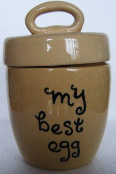 my best egg Stoneware Egg Coddler Made in England by parkledge, $20.00