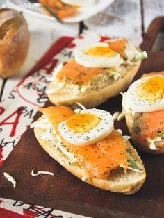 Baguette con salmón marinado - L´Exquisit