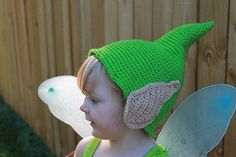 Crochet Tinkerbell Fairy Hat Pattern Elf Hat Pattern by Mamta