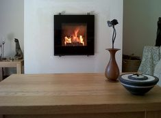 Hwam 30/45 Installation #KernowFires #Hwam #fireplace #woodburner #stove #cornwall #installation #inset #contemporary
