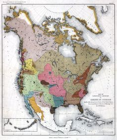 """Lingusitic Families of American Indians - chiefly within the present limits of the United States. """"Asians may have been the descendants of early American Indian migrations from the Americas to Asia.""""  """"Today it is generally accepted that there are 150 different language stocks in the Americas. To give some perspective to this diversity, there are more language stocks in the Americas than in the rest of the world combined."""""""