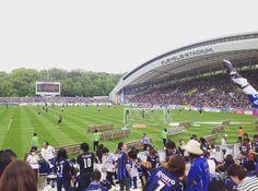 LEVEL5 STADIUM 通称 レベスタ なかなか良いスタジアムでした #レベスタ#アビスパ福岡#ガンバ大阪#福岡#jleague#football by yoshihikomizuno