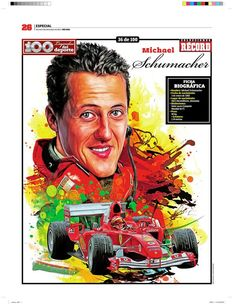 Michael Schumacher 100 Leyendas del Deporte / 100 Sports Legends by Jesús R. Sánchez, via Behance