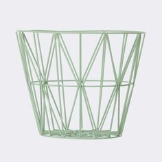 Wire basket Mint Large via Designfirman Gamla Stan. Click on the image to see more!