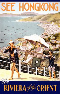 Vintage travel poster for Hong Kong