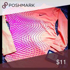 Nwt nike top dri fit shirt girls 4 New with tags Nike top Dri fit Girls 4 Tangerine with fushia Retails at $28 Nike Shirts & Tops Tees - Long Sleeve