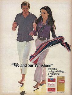 Winston Cigarettes Advert 1970
