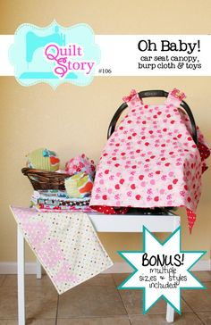 PDF Sewing Pattern Car Seat Canopy Cover by QuiltStory on Etsy, $9.00