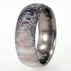 Wedding band for John. Deer Antler Ring / Antler Jewelry / Overlay on a by jewelrybyjohan, $249.00 This is exactly how much I spent on my husband's ring. I would have preferred this to that. dang. this is awesome.
