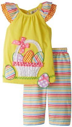 65ba96443 Online Sales eXperts (USA) - Apparel: Rare Editions Little Girls' Easter  Egg Basket Legging Set