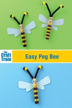 Easy Clothespin Bee