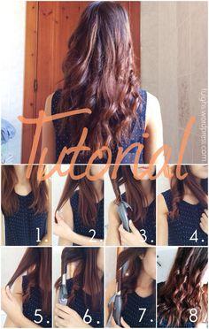 Come fare i capelli mossi in 10 minuti #capelli #mossi #tutorial #DIY