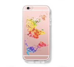 Abstract World Map iPhone 6s 6 Clear Case iPhone 6 plus Cover iPhone 5 – Acyc