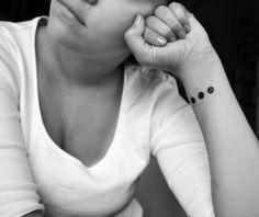 Minimal geometric tattoo | b&w | wrist