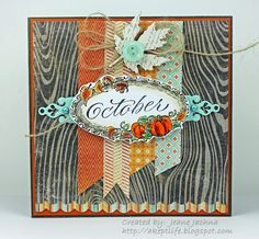 A Kept Life - Jeanne made this card using Serendipity Stamps October rubber stamp