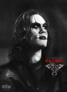 The Crow - tribute sketch, Byzwa Dher on ArtStation at https://www.artstation.com/artwork/9L4wy