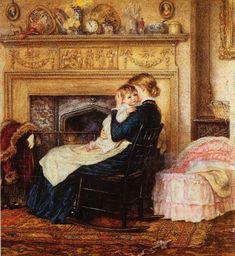 In The Nursery ~ Helen Allingham (English 1848 – 1926)