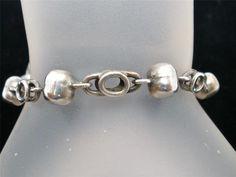 Signed Beto Taxco Sterling Silver Bead Link Estate 925 Mexico Bracelet Vintage   eBay