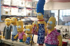 The Simpsons as Puppets in the Christmas special