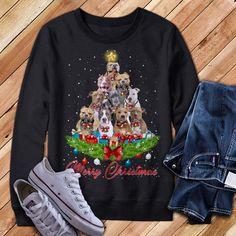 Christmas Sweaters, Pitbulls, Graphic Sweatshirt, Sweatshirts, Fashion, Moda, Pit Bulls, Fashion Styles, Christmas Jumper Dress