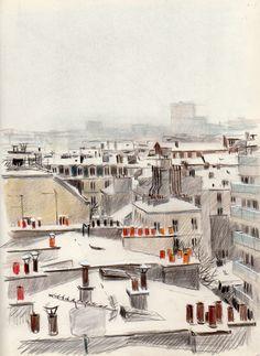 París la nieve trasmite pureza aunque sea en una ciudad con mucha polucion