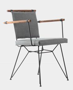 Produktbild Designer Stuhl Ben, Stofffarbe Grau, Beine Aus Metall,  DailyHOME Möbel Für Esszimmer