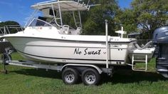 No Sweat is a no brainer. In great shape and only 70 hours, have a look at this Hydra-Sports Boat Company 230 WA that won't break the bank. Boat Companies, Sport Boats, Used Boats, Boats For Sale, Shape, Sports, Hs Sports, Sport