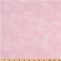 Fabric.com Quilter's Flour Plus Damask Pink