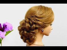 Curly wedding hairstyle for medium hair tutorial. - YouTube