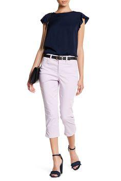 'Karen' Stretch Denim Capri Jeans (Petite)