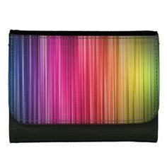 rainbow stripe pattern wallet
