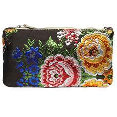mini portatodo Bolso fallera @ con detalles florales, realizados en tela de seda y cuero. fallera bag with floral pattern. #bag #clutch #bolso http://fallera.com/es/bolsos/bc002011-detail